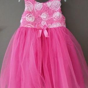 Girls size 6x pink & white flower fancy dress